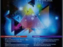 Plakat festiwal światła Wilanów