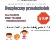 Straż miejska bezpieczny przedszkolak